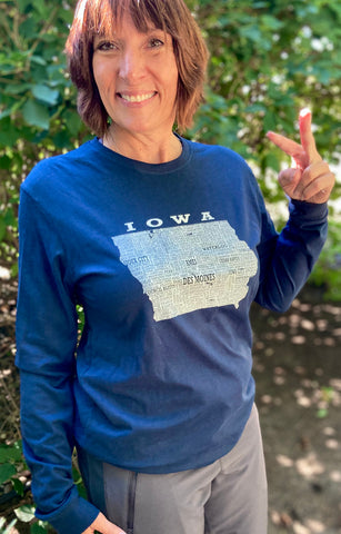 Hometown Iowa - Sueded Long Sleeve