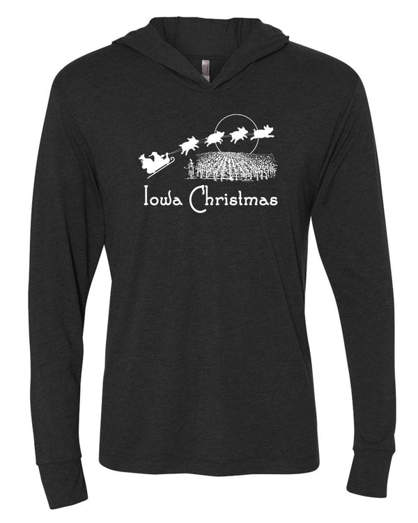 Iowa Christmas; Long Sleeved Hoodie