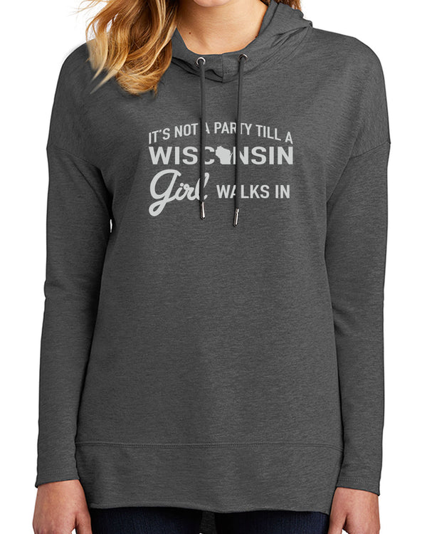 Wisconsin Party Girl-Featherweight sweatshirt - Washed Coal