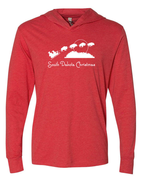 South Dakota Christmas; Long Sleeved Hoodie