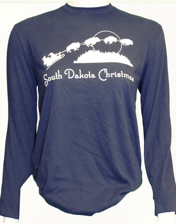 South Dakota Christmas - Long Sleeved Tee - Scratchpad Tees