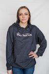 Just A Small Town YOOPER Girl Lightweight Sweatshirt; Heather Navy