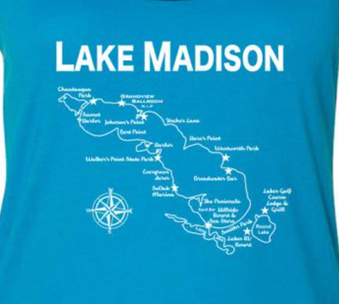 Lake Madison Tank Top - Turquoise/Black