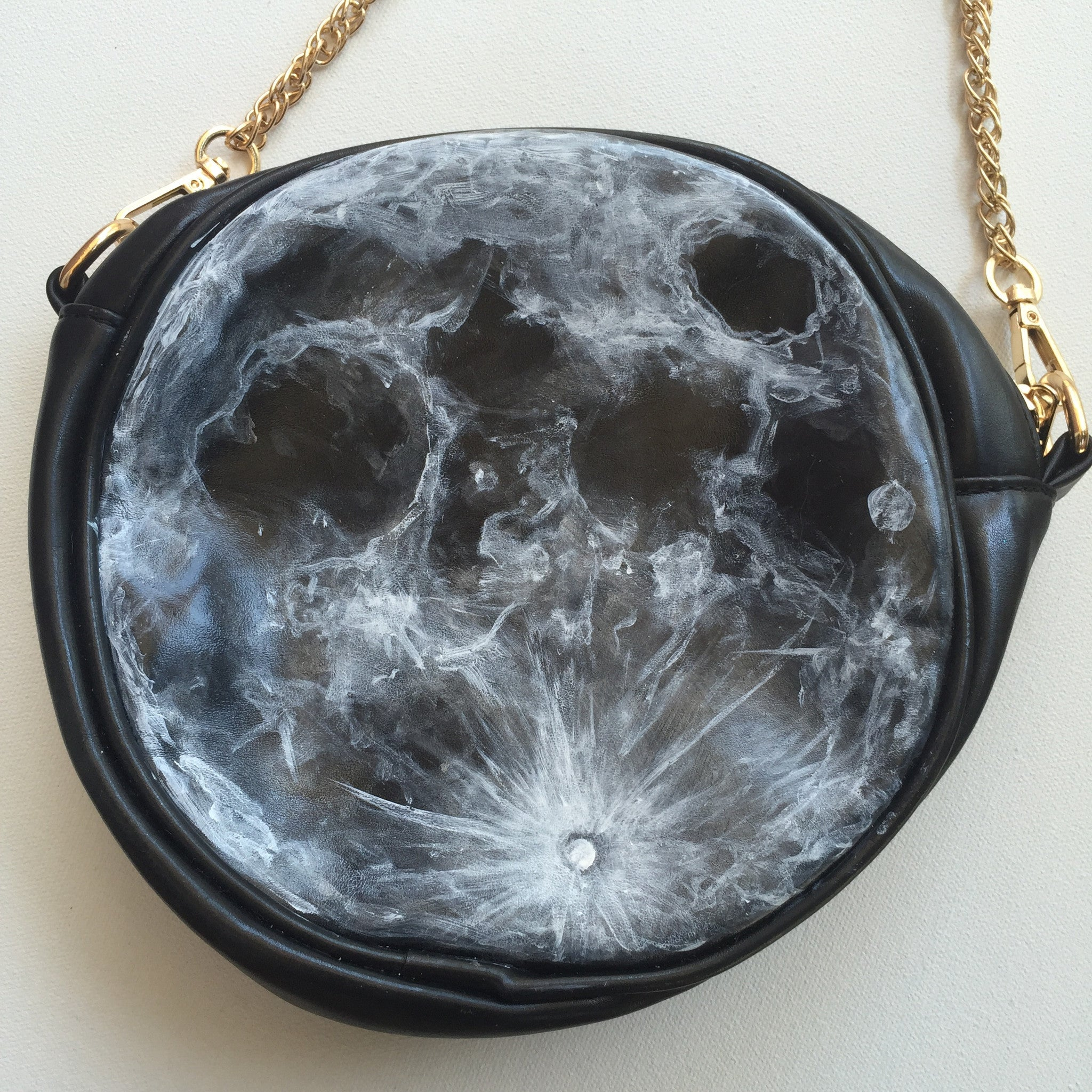Hand Painted Moon Bag