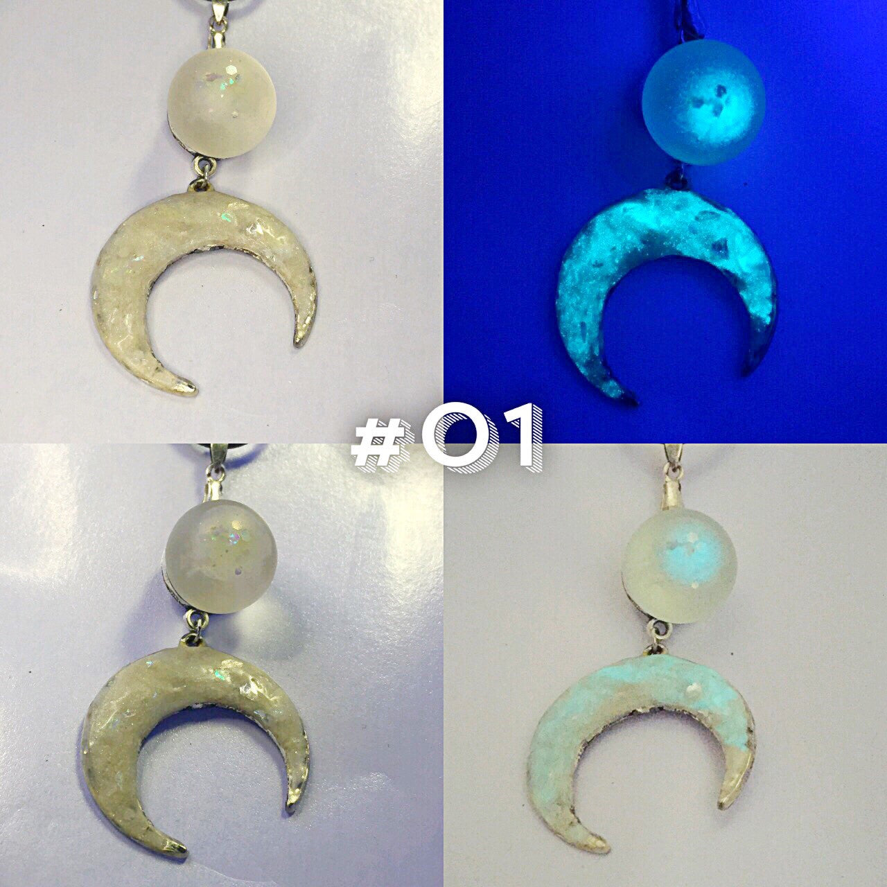 """Neon Moon"" Double Moon Necklace"