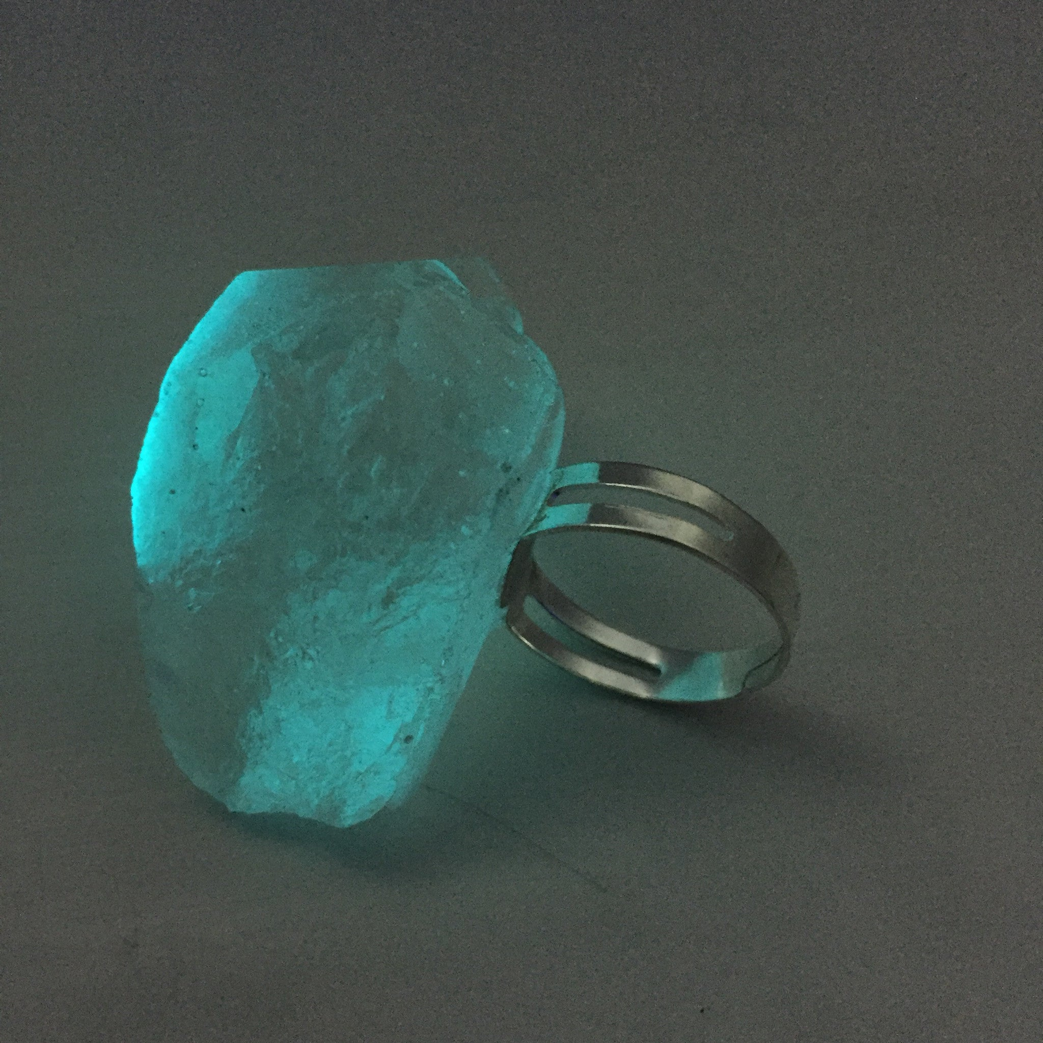 """Neon Moon"" Moon Rock Ring"