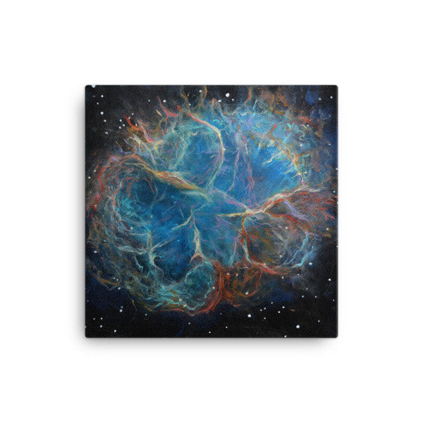 "16""x16"" Crab Nebula Canvas Print"