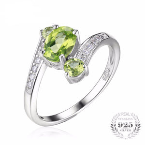 August Peridot Birthstone Natural Gemstone Ring