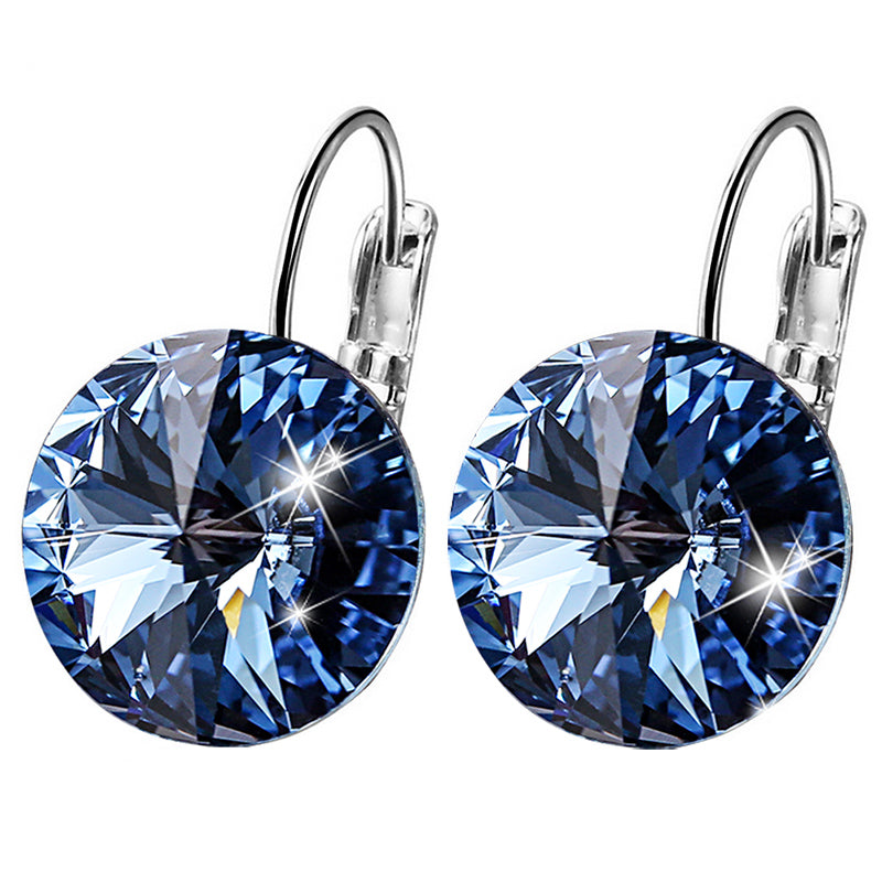 Swarovski Crystal Round Dangle Earrings