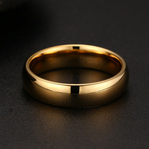18K Gold / 100% Tungsten Carbide Ring