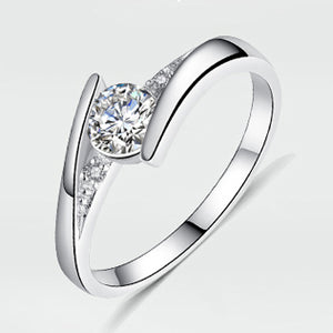 The Aubrey 0.5 ct CZ April Diamond Birthstone Ring