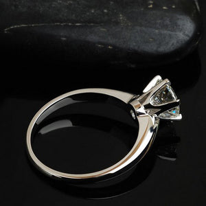 Handcrafted .925 Sterling Silver 1 ct CZ Diamond Ring
