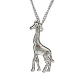 Silver Antique Giraffe Necklace