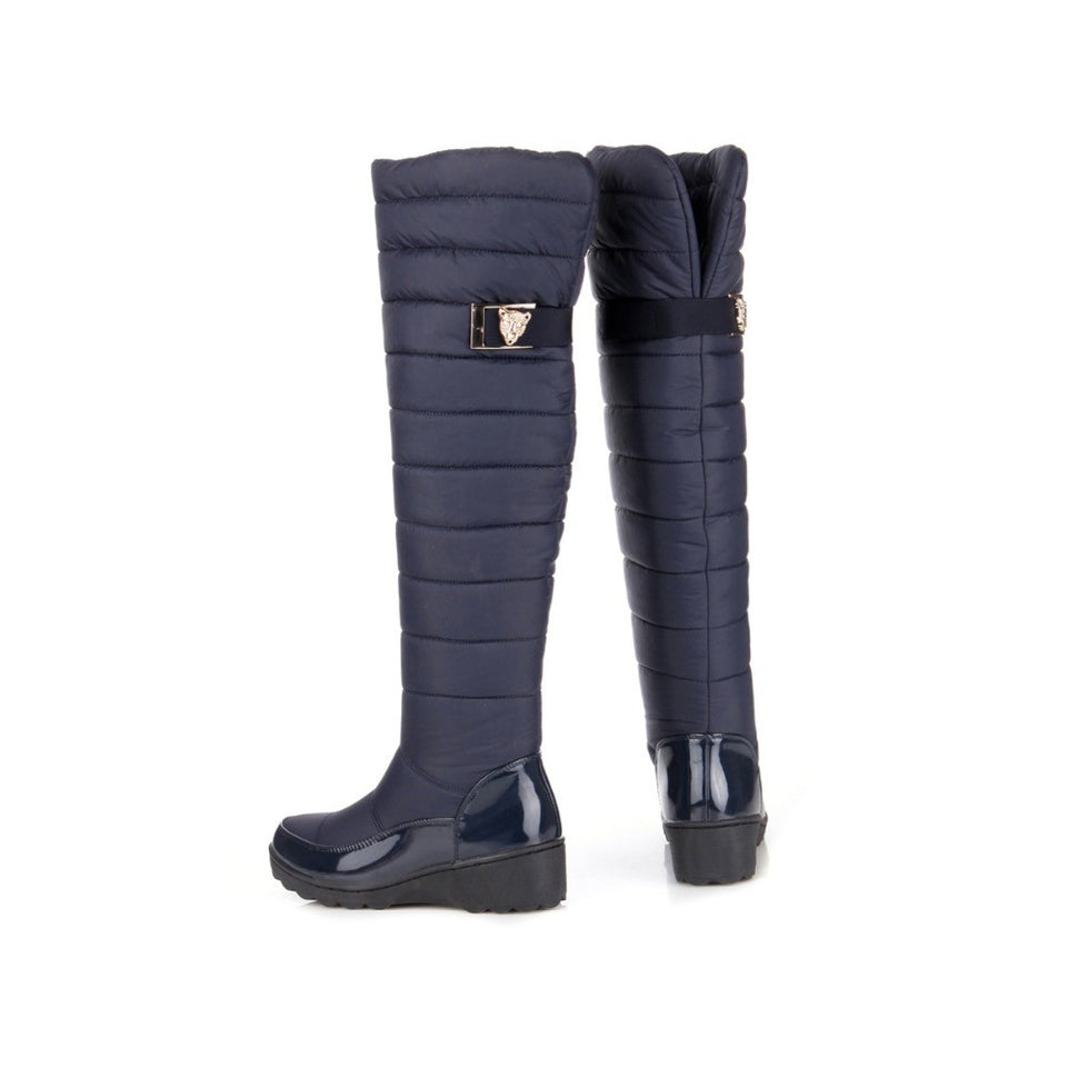 Dubarry Fur thigh knee high boots