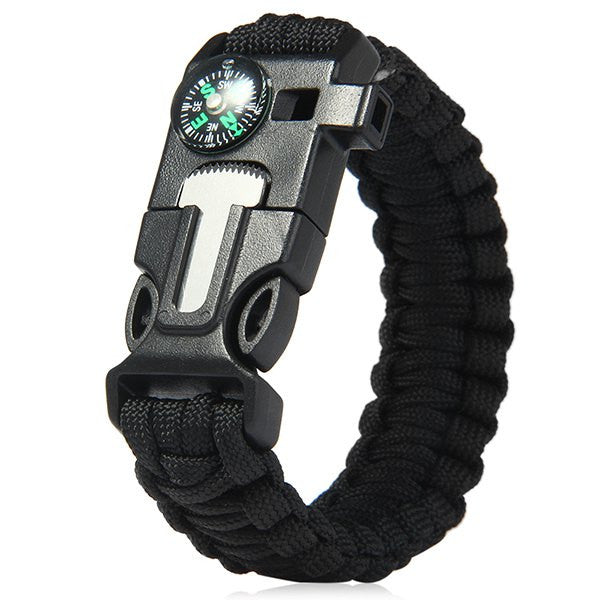 5 in 1 Outdoor Survival Paracord Bracelet  -  4 color optional