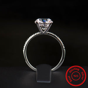 3Ct Classic Luxury Real Solid 925 Sterling Silver Ring