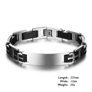 Classic Engravable Stainless Steel Men Bracelet
