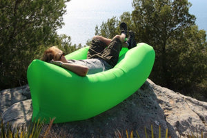 Fast Inflatable hangout Air Sleep Hiking Camping Bed Beach Sofa Lounger