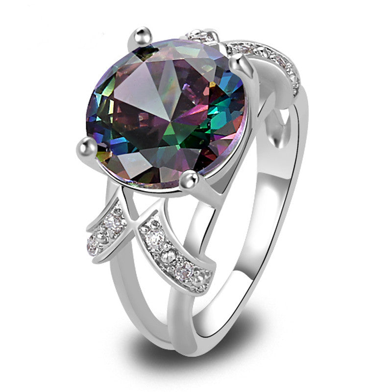 Mystic Rainbow Topaz Rings - 4 Optional Colors