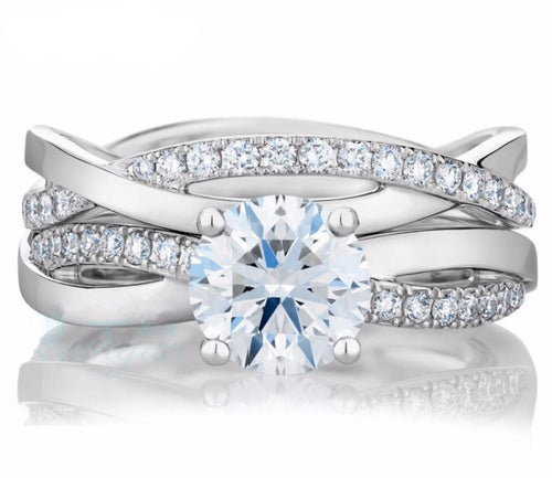 Love of Eternity Infinity 1ct Twins Ring Set