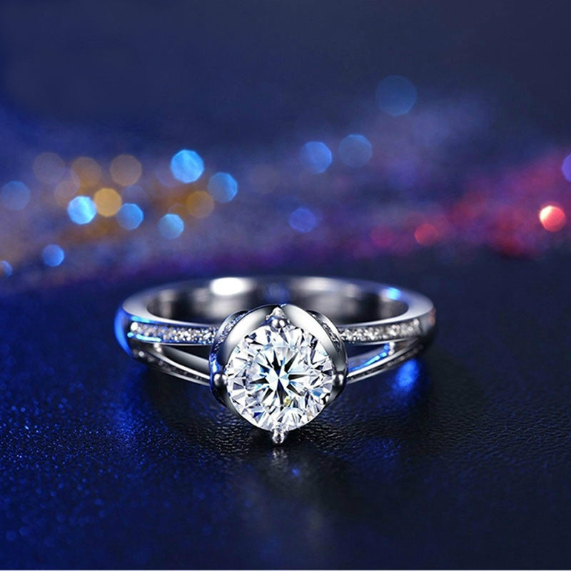 "White Gold ""LOVE4EVER"" Diamond Ring"