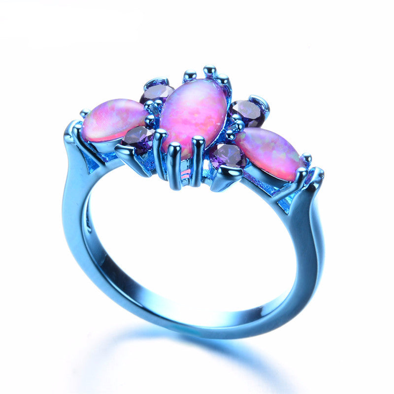 Exquisite October birthstone Fire Opal Ring