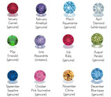 Personalized Interchangeable Sterling Silver Birthstone Ring