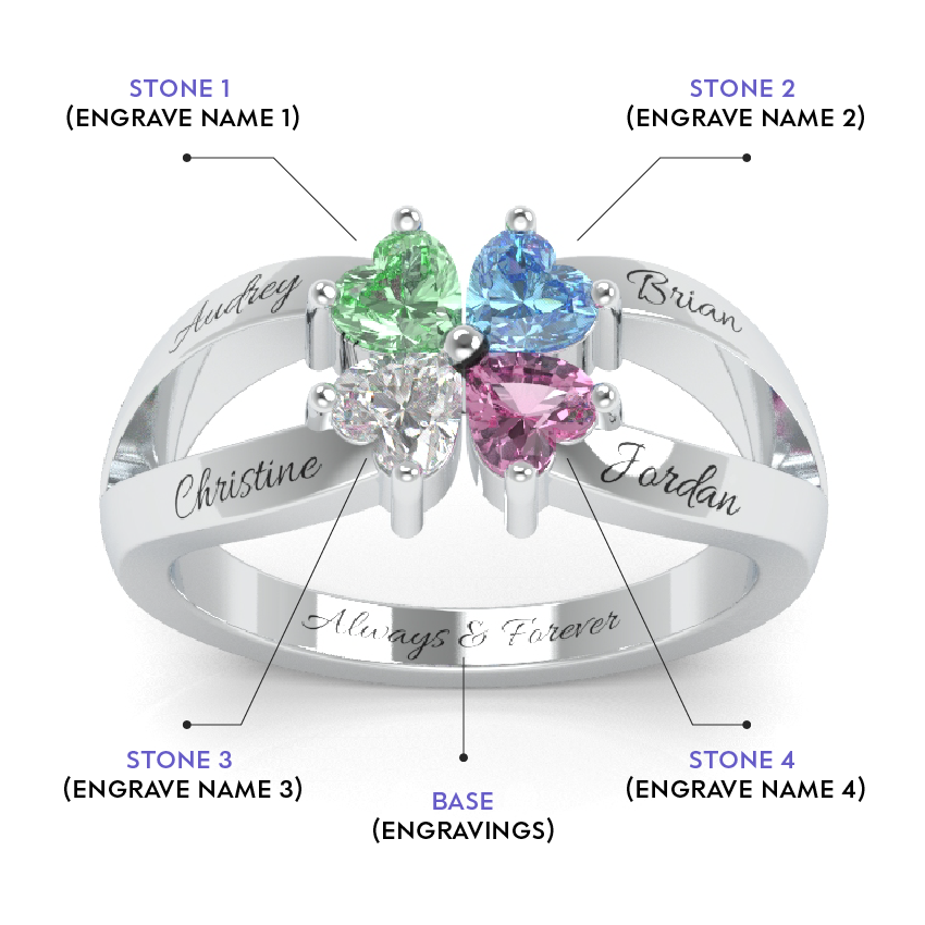 Clover of love ring madison audrey previous slide ccuart Choice Image