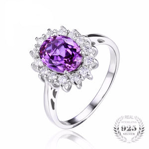 Princess Collection 3.2ct Alexandrite (June) Birthstone S925 Ring
