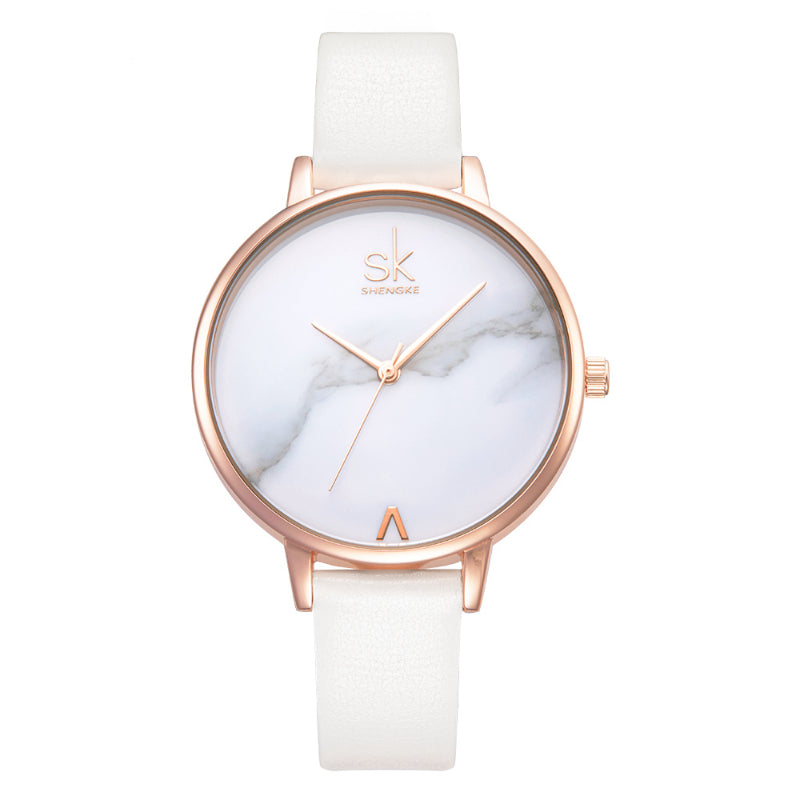 Marble Dial Simplicity Quartz Watch (4 Sytyles)