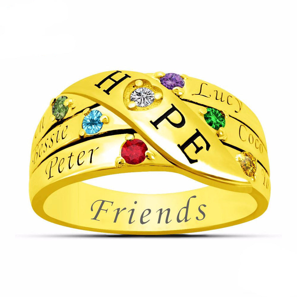 Family Together Forever Ring (Engrave up to 6 Names)