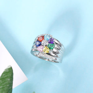 Classy Seven Clover of Love Ring