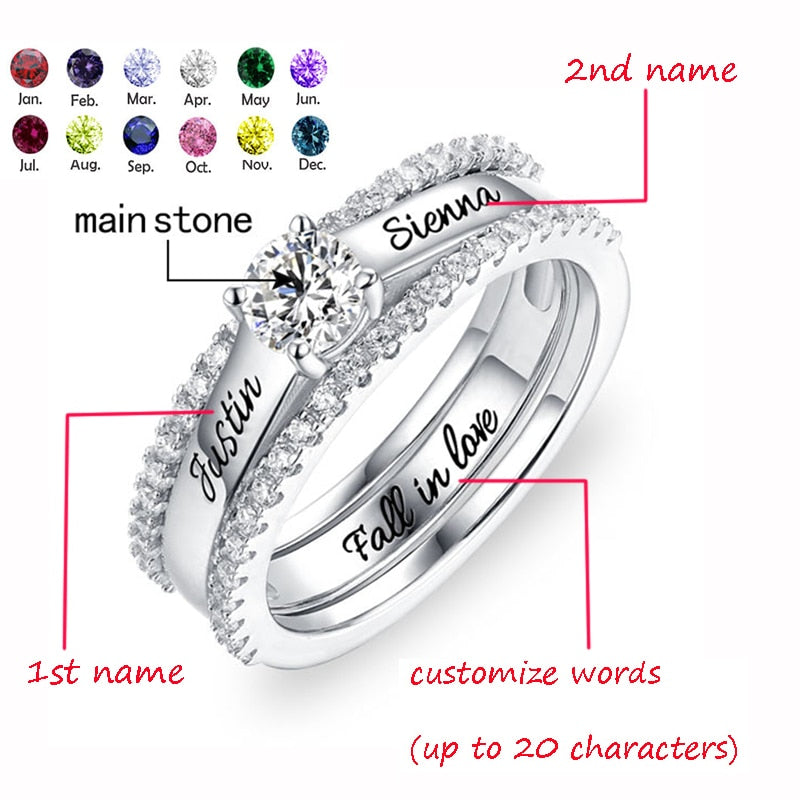 Classic Jesse Diamond Engagement Ring Set