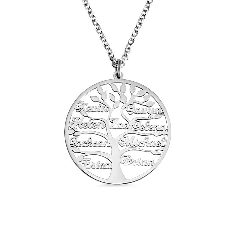 Tree Of Life Circle Name Necklace (1-9 Name)