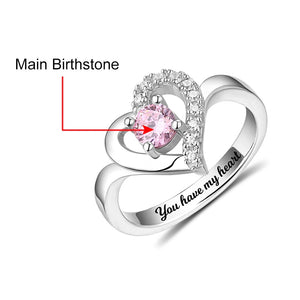 Be My Love Single Birthstone Ring
