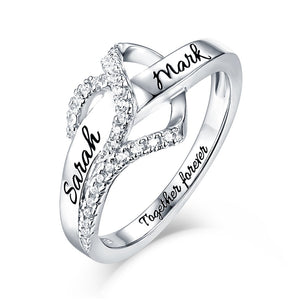 Classic James Heart Lined Diamonds Engagement Ring