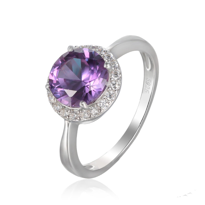 Exquisite 2.97ct Alexandrite Sapphire Ring with Diamond Accents ( June Birthstone )