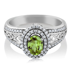 August Peridot Showcasing a Pure 1.36 cttw Natural Green Gemstone Birthstone