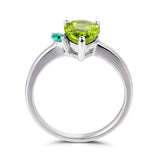 1.86 carats Natural Peridot Engagement August Birthstone Ring