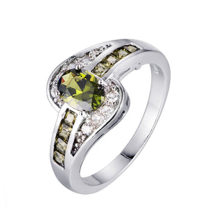 August Birthstone Peridot Ring