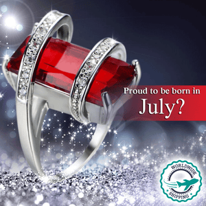 July Birthstone Exquisite Geometric Ruby Ring