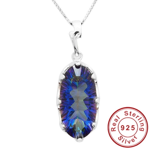11ct Genuine Rainbow Fire Mystic Topaz Pendant