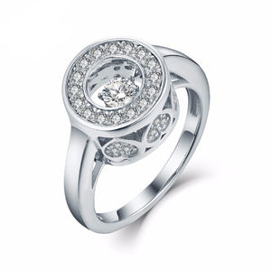The Exquisite April Dancing Diamond Birthstone Ring