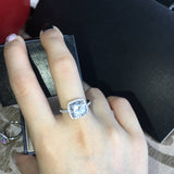 Genuine Solid 925 Sterling Silver 4 Carat CZ April Birthstone Ring