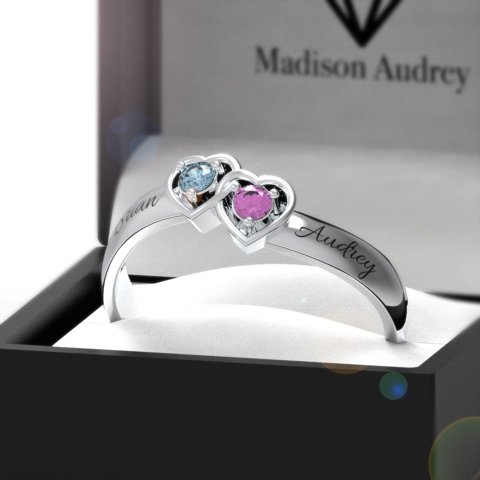 The Double Heart Crystal Ring + Free Gift Box