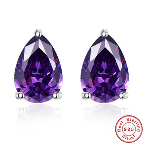2.8ct Natural Amethyst February Birthstone Earrings