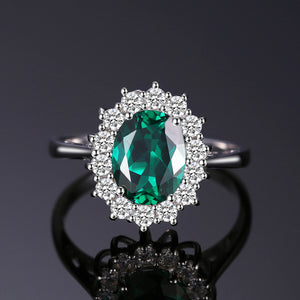 2.74 ct Oval Emerald (May Birthstone) Ring
