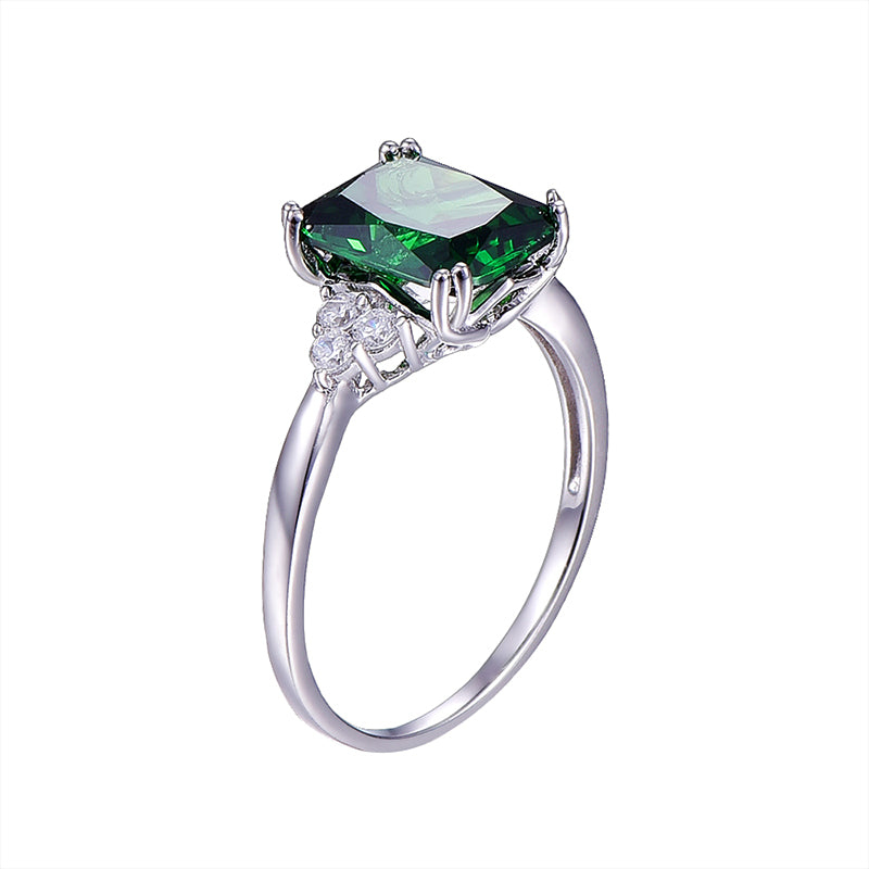 Aubrey 5.3ct Emerald Ring ( May Birthstone ) Ring