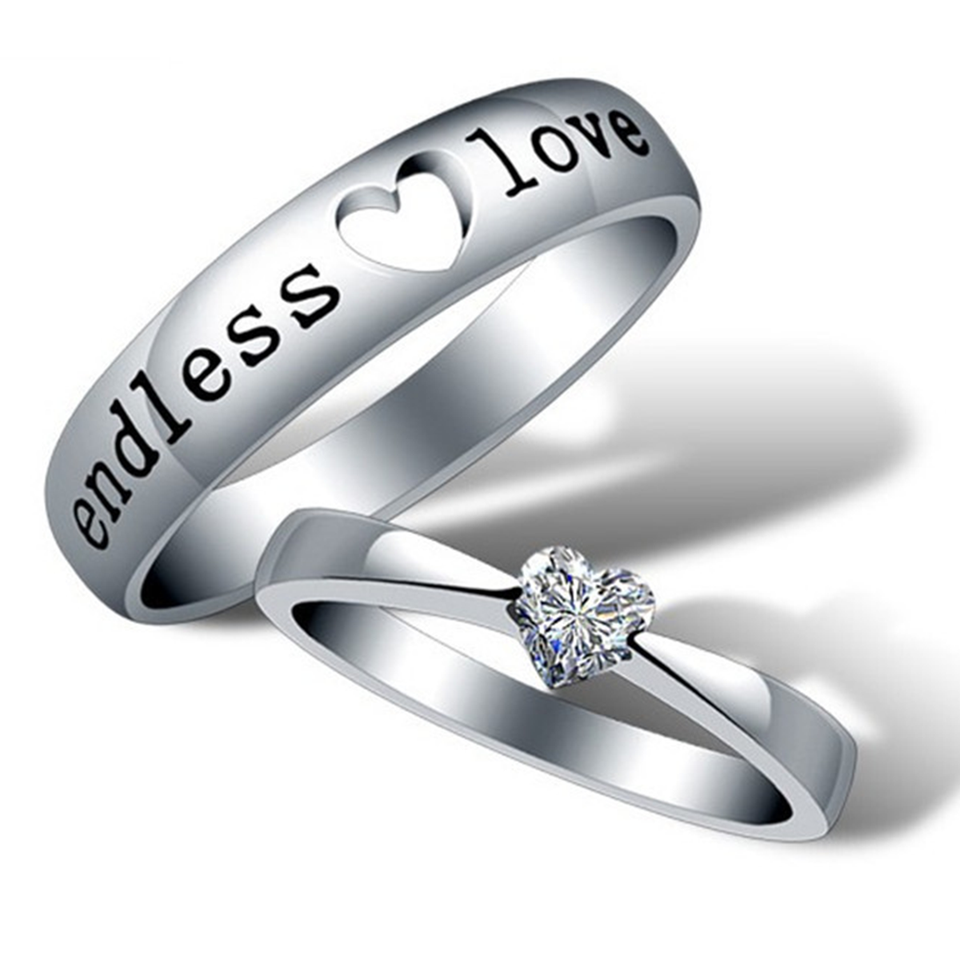 zircon stripe silver gift steel rings finger simple stainless couple lover love men ring product endless women