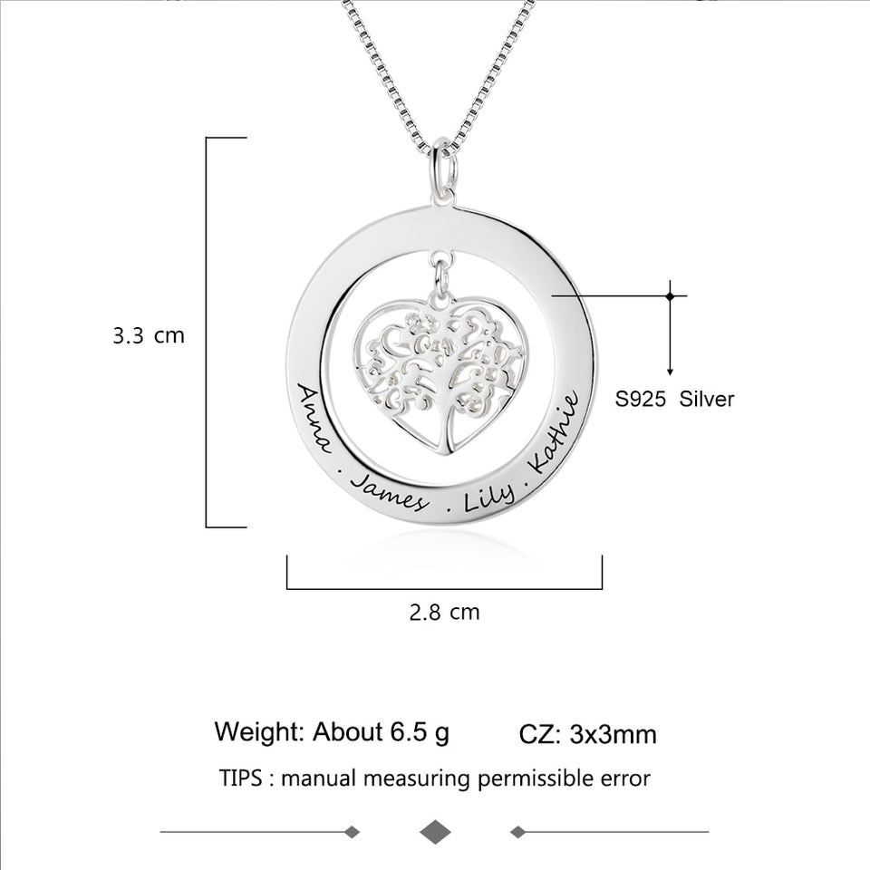 Tree Of Life Halo Engraved Pendant